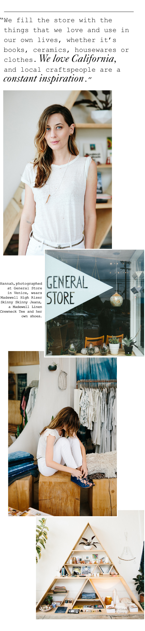 Show + Tell: Hannah Henderson of General Store | Madewell Musings
