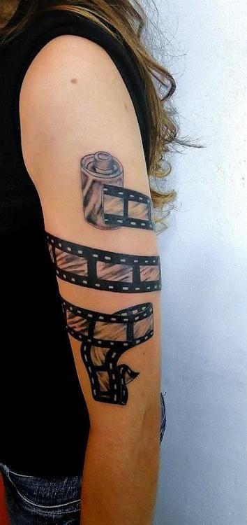 Large Jpg 354 750 Camera Tattoos Tattoos Left Arm Tattoos