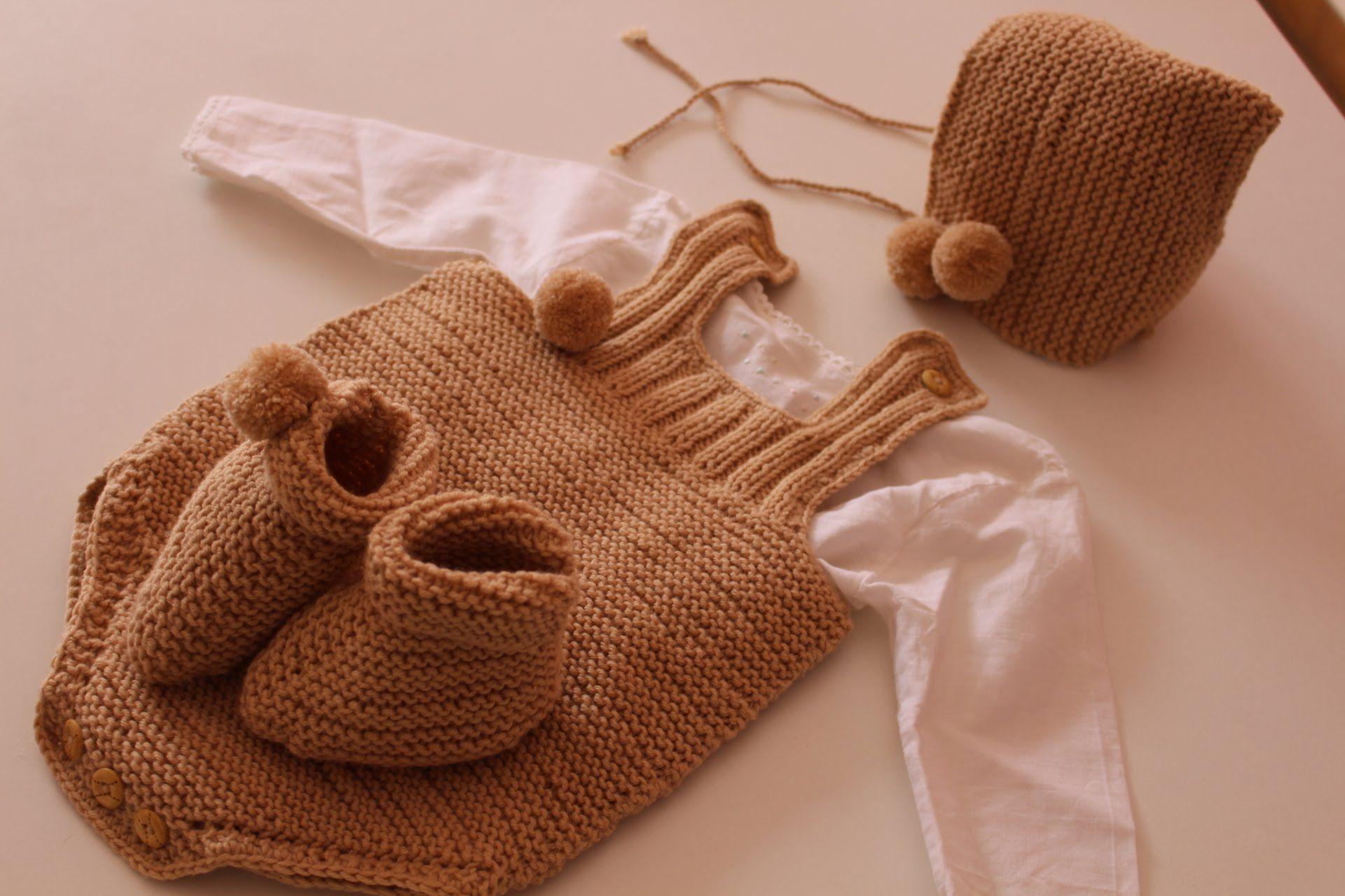 Aprende a tejer este peto de bebé a dos agujas muy fácil de hacer de ...