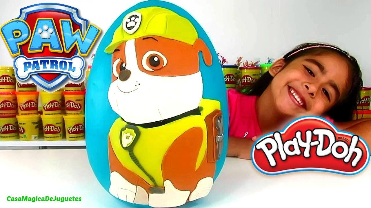 Huevo Sorpresa Gigante de Rubble de la Patrulla Canina Paw Patrol de Pla...