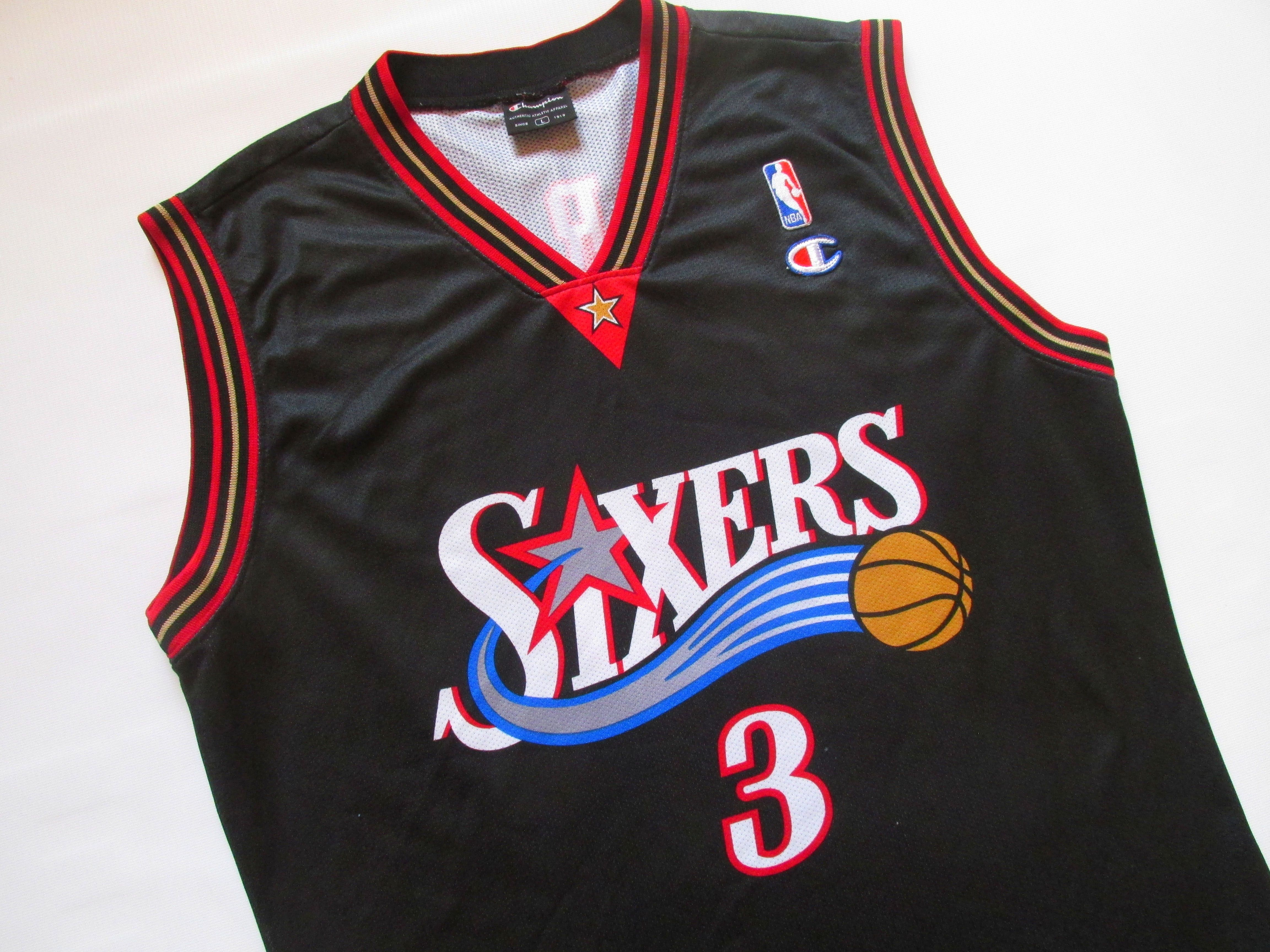 lowest price a4284 1eedf Philadelphia 76ers #3 allen iverson basketball jersey shirt ...