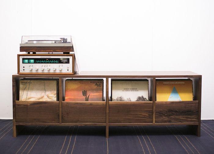 Meuble Vinyle Album Storage Hifi Furniture Vinyl Shelf