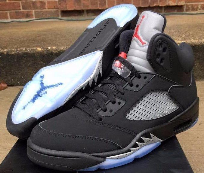 online store a14f4 bf06a Details about Nike Air Jordan 5 V Retro OG Black Metallic ...