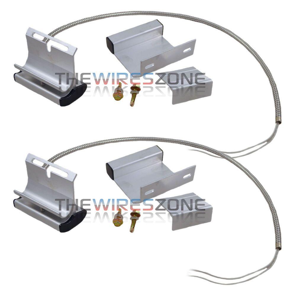Garage door alarm sensor - 2 Pack Overhead Garage Door Floor Alarm Switch Contact Sensor Track Mounted