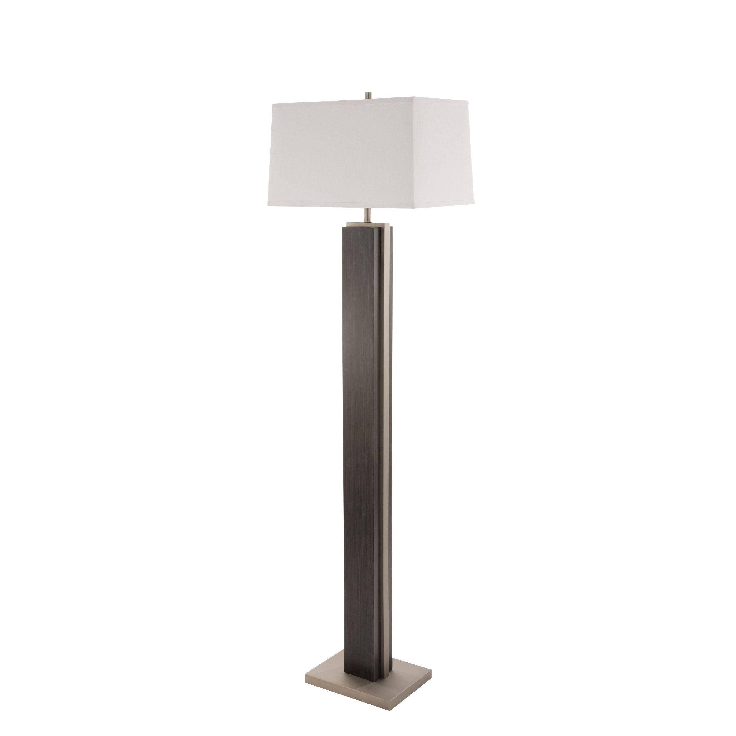 Nova Lighting Bounded Charcoal Grey Floor Lamp Gray Steel