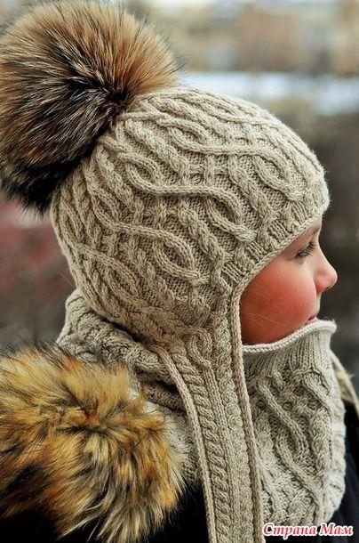 С Новым годом! Мира, здоровья, счастья и благополучия всем!!!  Для полного комплекта (свитер, шапка с ушками и без) связался у меня и снуд Winter Adventure.