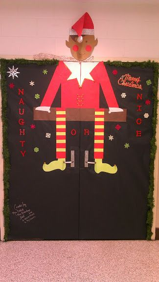 Library Double Door Christmas Decoration Library
