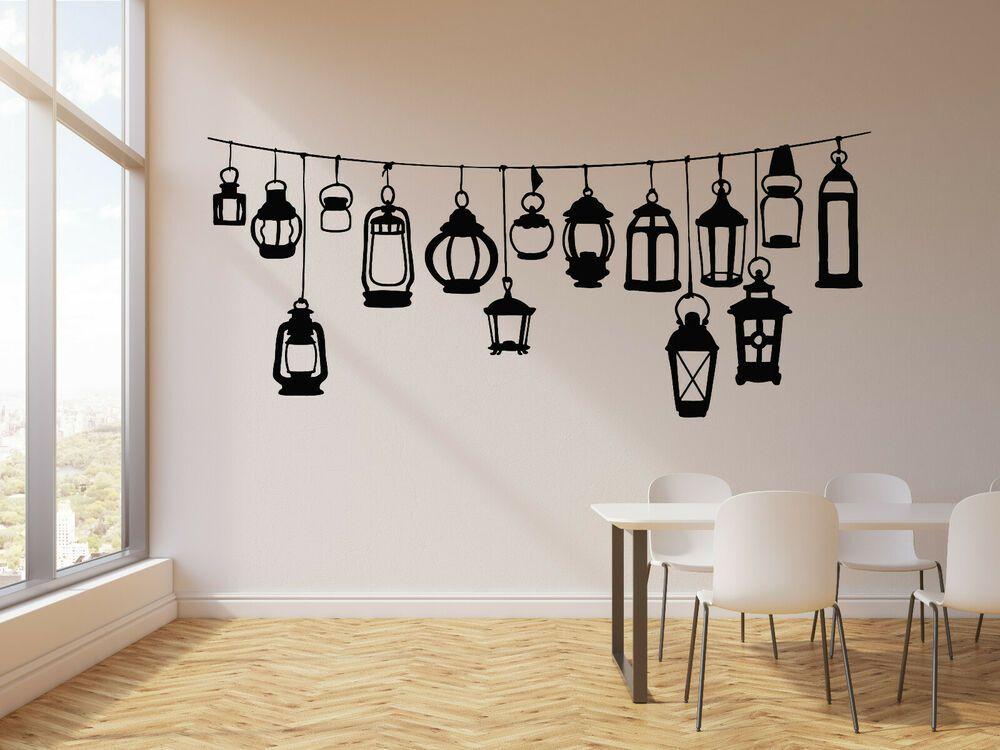 Vinyl Wall Decal Abstract Decorative Street Lamp Lighting Stickers G645 Ebay Wall Painting Decor Diy Wall Painting Room Wall Painting Simple room wall decorative lights
