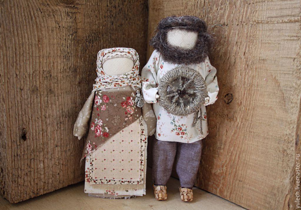 """Купить Народные русские куколки """"Семейная идиллия"""" - разноцветный, дом, деревня, народная кукла"""