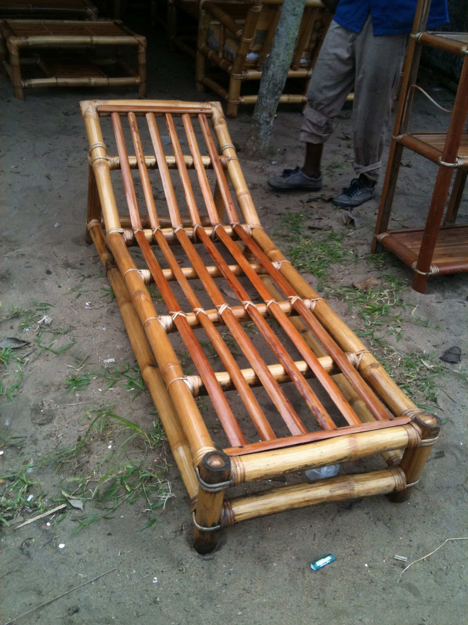 Bamboo chaise lounge from west africa. Soon available in Canada! : bamboo chaise lounge - Sectionals, Sofas & Couches