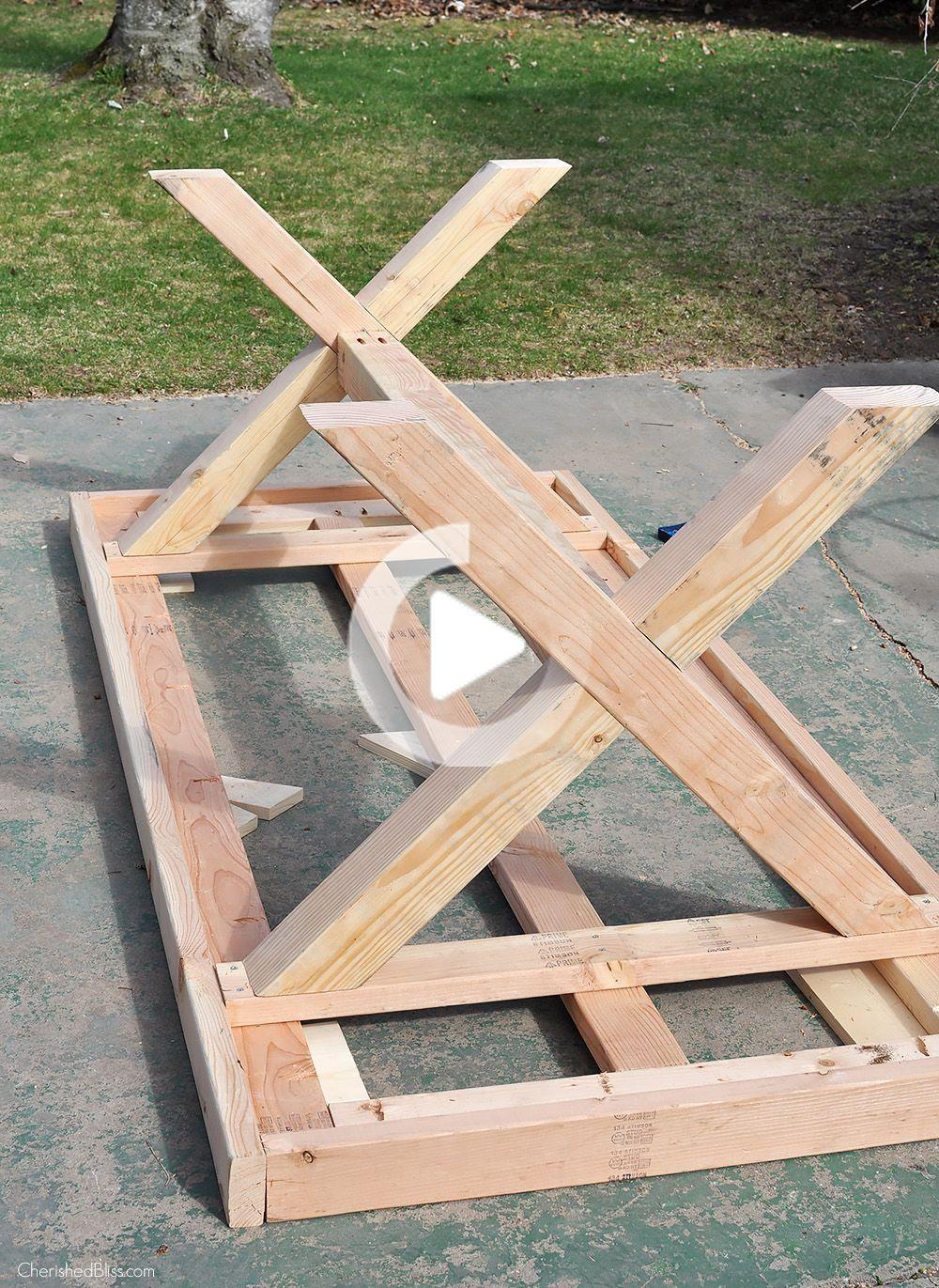 Table D Exterieur Bricolage Diy Terrasse Outdoor Tisch Aussentische