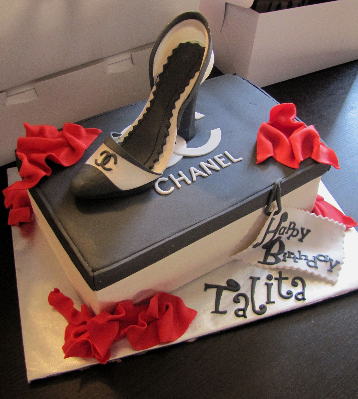 Chanel Shoe Cake Birthday Photos