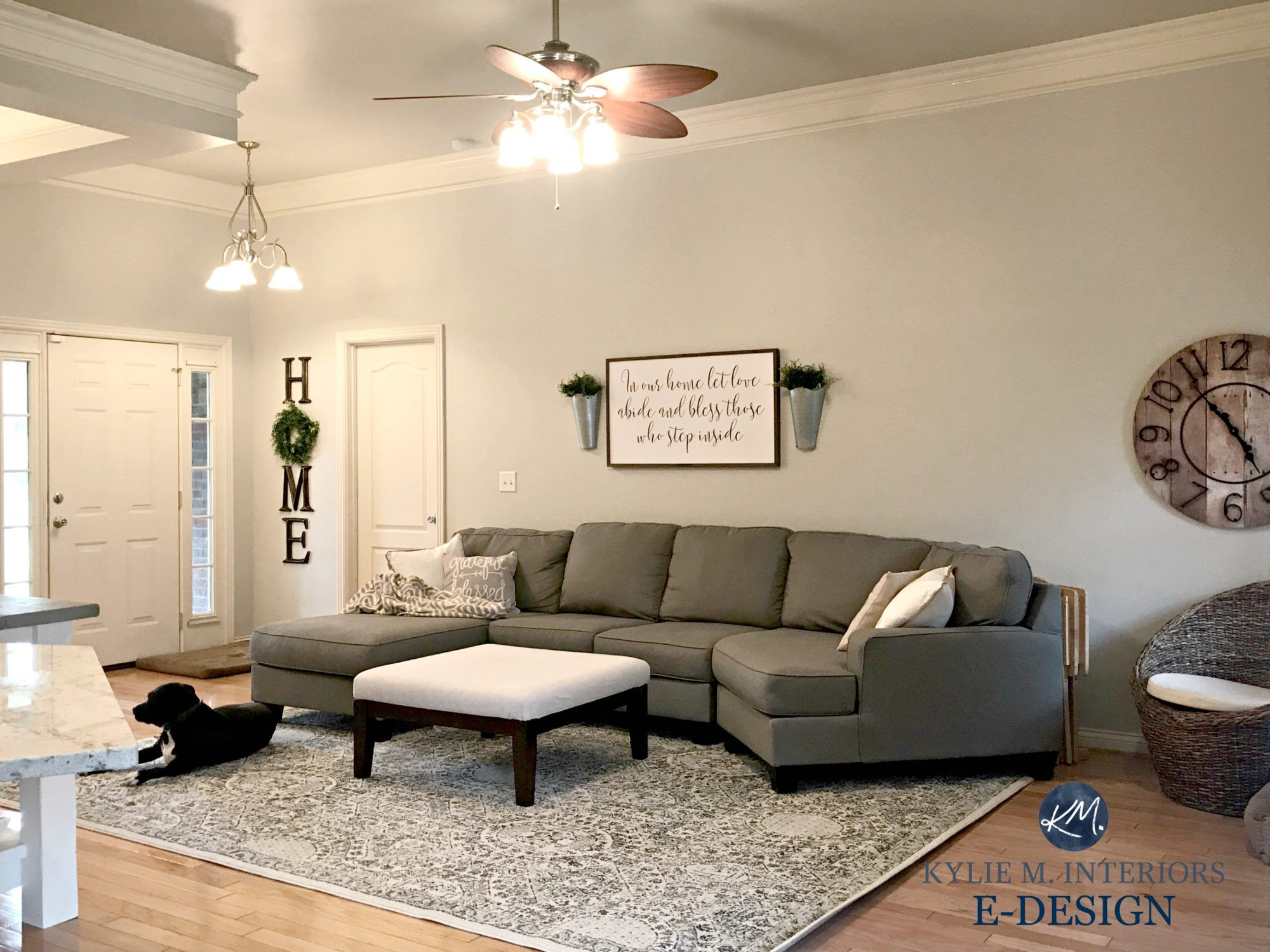 Design A Living Room Online Sherwin Williams Agreeable Gray In Living Room With Gray Sectional