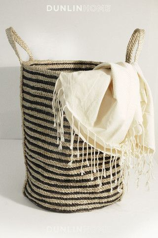 Pretty Laundry Baskets Adorable Dunlin Linen Beach Towel  Storage Laundry And Storage Baskets Inspiration Design