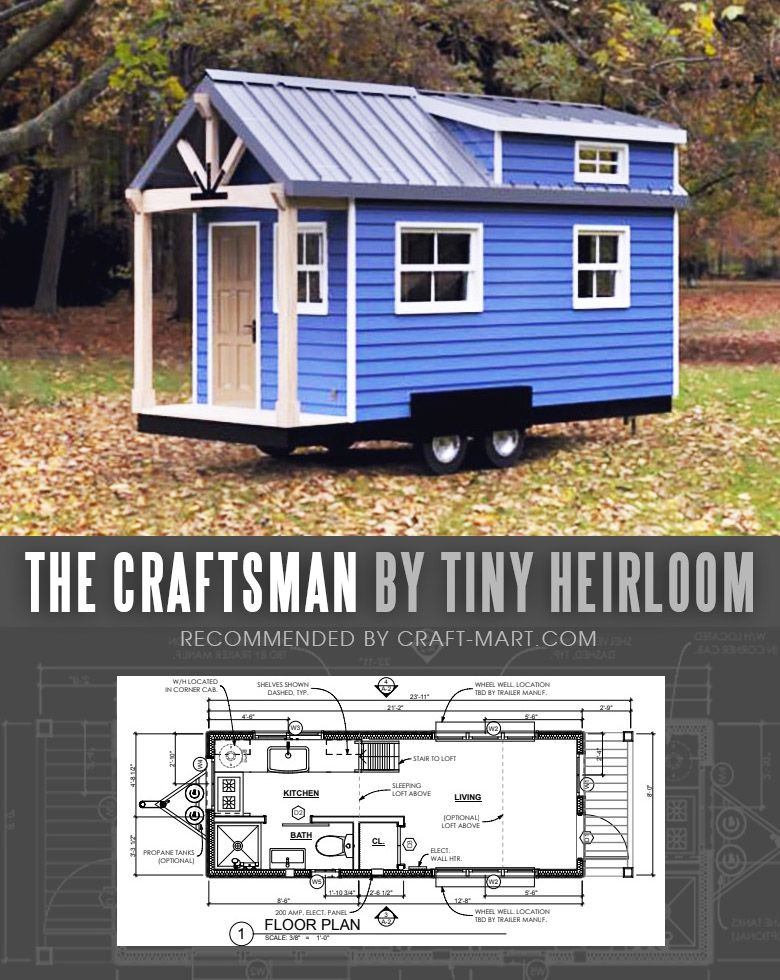 17 Best Custom Tiny House Trailers and Kits with Plans for Super-Tight Budget - Craft-Mart #tinyhouses