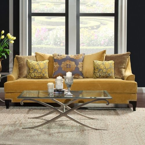 Best 20 Comfortable Living Room Sofas Many Styles Gold Sofa 400 x 300