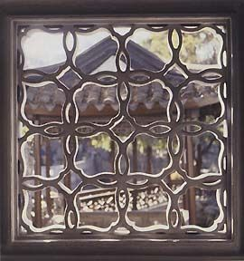 love this lattice window chinese design inspiration leaf