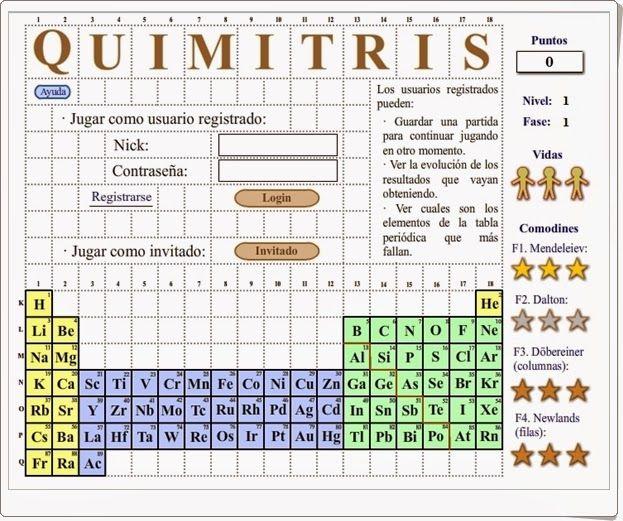 Quimitris Es Un Juego Tipo Tetris Para Reforzar El Aprendizaje De