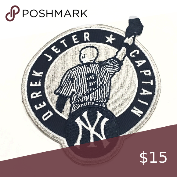 Derek Jeter New York Yankees Captain Patch Stiched Derek Jeter Yankees Derek Jeter New York Yankees