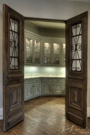 not a fan of the style but like doors opening to closed off butleru0027s pantry & Cabinets | Doors Pantry and Door opener