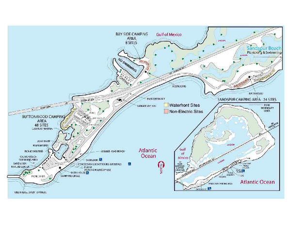 Big Map Of Florida.Map Of Florida State Parks Bahia Honda State Park Map 36850