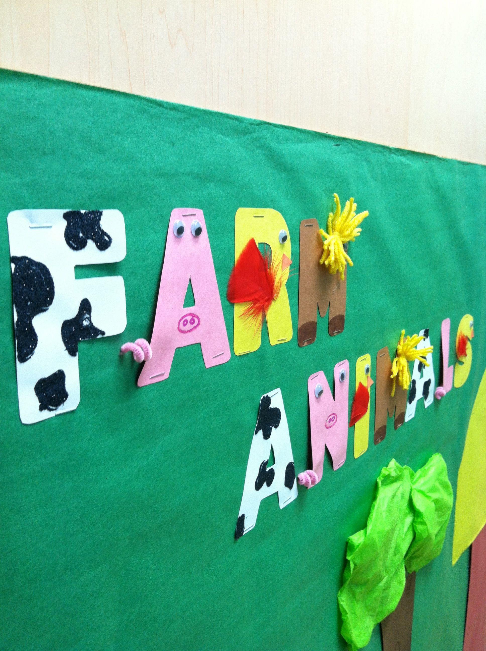 Farm Animal Bulletin Board Idea