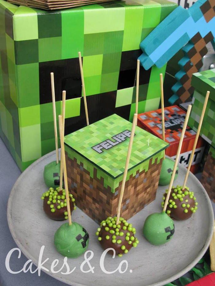Tnt Minecraft Birthday Party Minecraft Birthday Party Minecraft