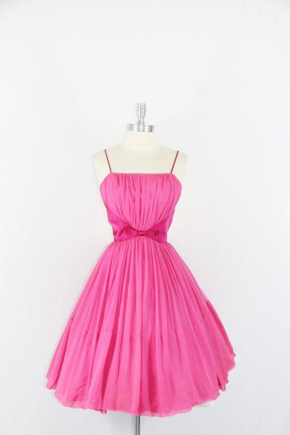 Hot Pink Vintage Cocktail Dresses