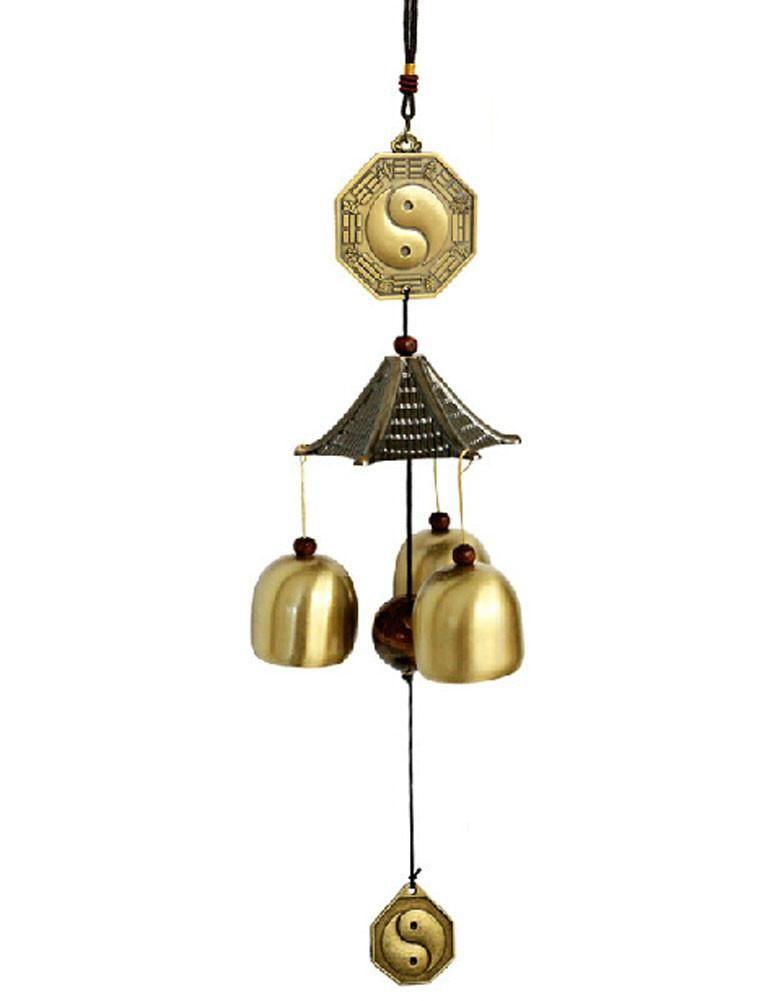 Tai Chi Indoor Outdoor Decor Bronze Windchime Wind Chime Bells