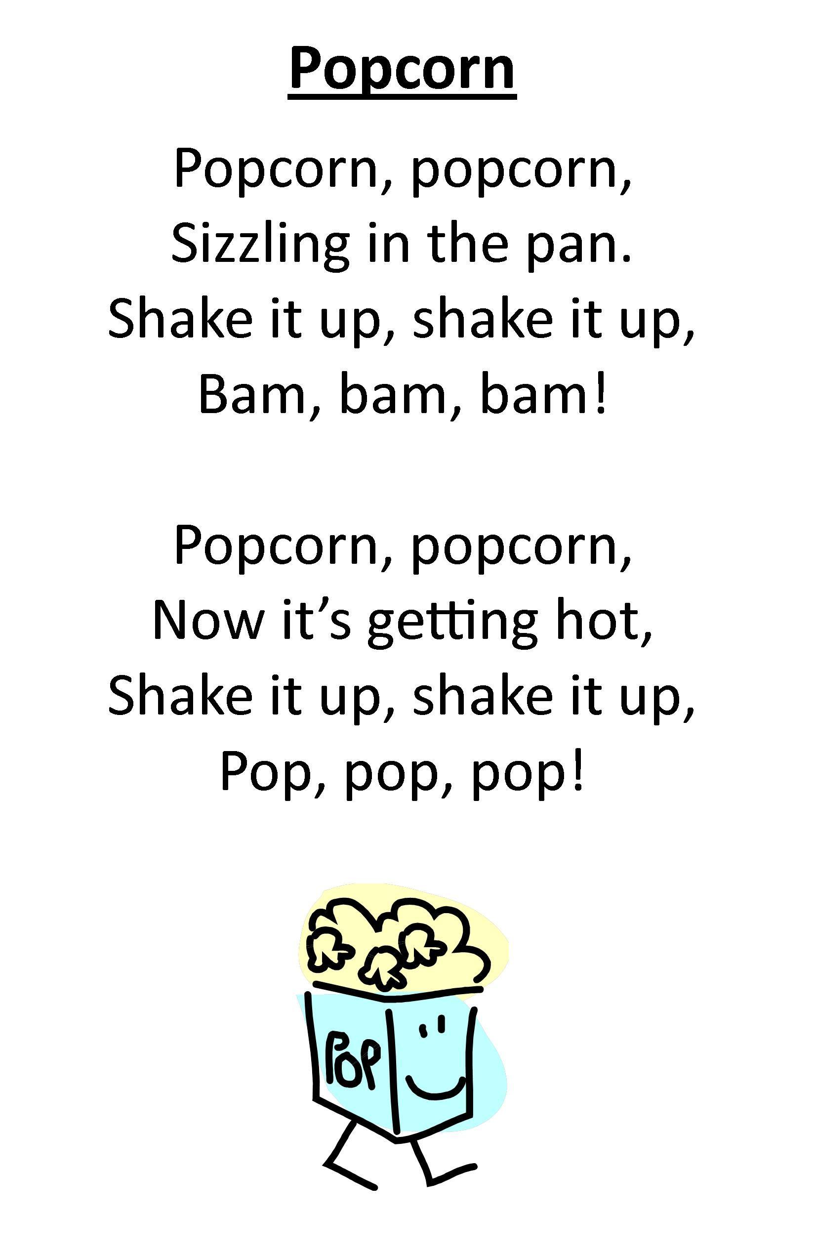 Itty Bitty Rhyme Popcorn