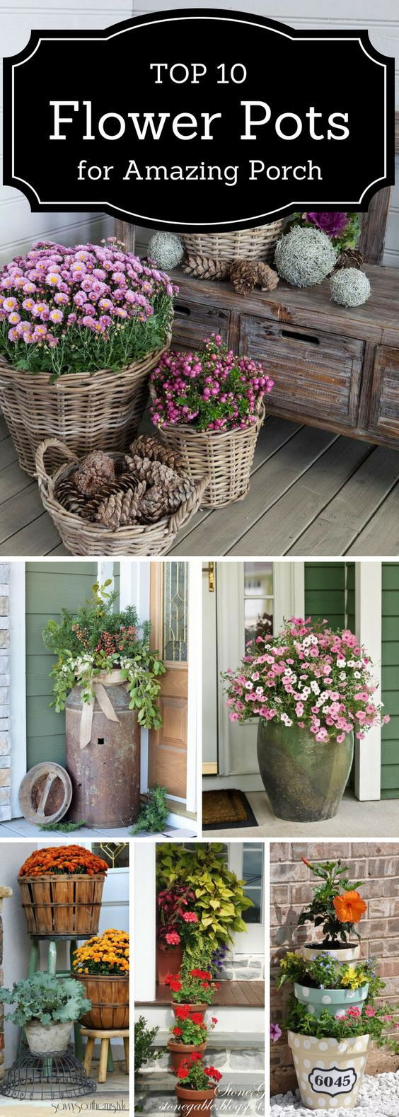 Top 10 Flower Pots That Will Make Your Porch Amazing