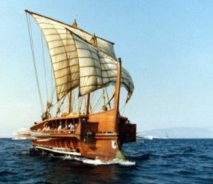"Greek Trireme Warship ""Olympias"" (my favorite rowing ship, and my first experience at sailing...KK)"