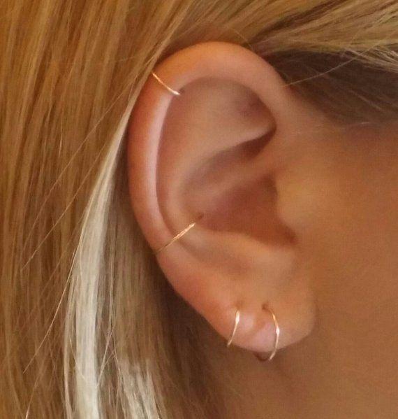 Small silver hoops, Boho earrings, Gold earrings, Simple hoops, Tiny hoop earrings, Hoop earring, Simple earrings, Silver hoop, Thin hoops