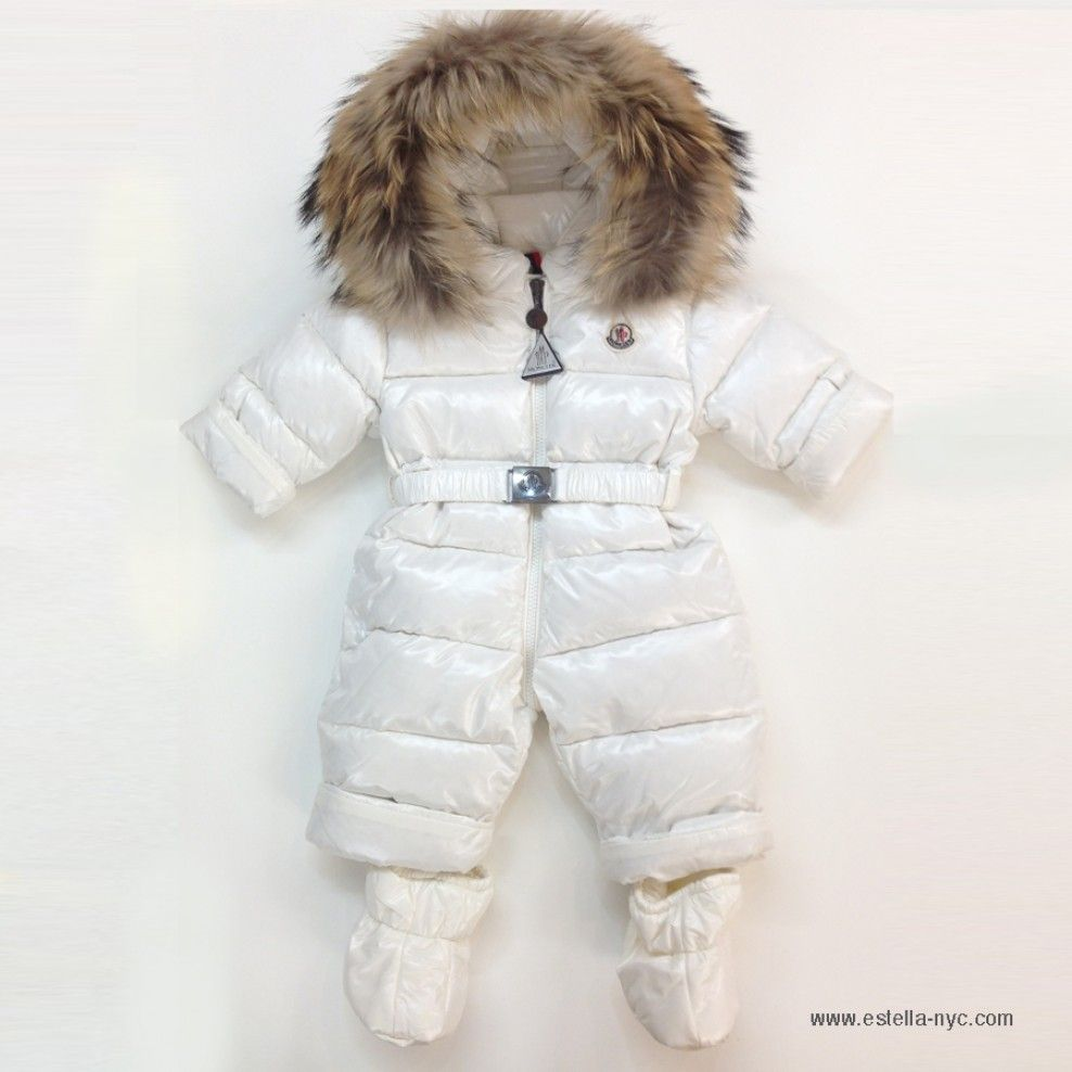 b8b946d00 The ultimate winter luxury. Moncler Crystal Baby Onesie Snowsuit ...