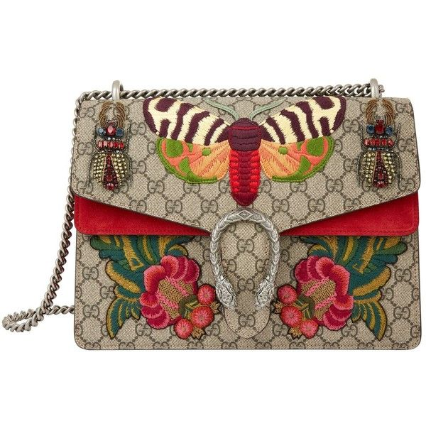 8113abe64b3 Gucci Large Dionysus Butterfly Beetle Bag (56.621.505 IDR) ❤ liked on  Polyvore featuring bags, handbags, embroidery bag, gucci bags, embroidered  handbags, ...