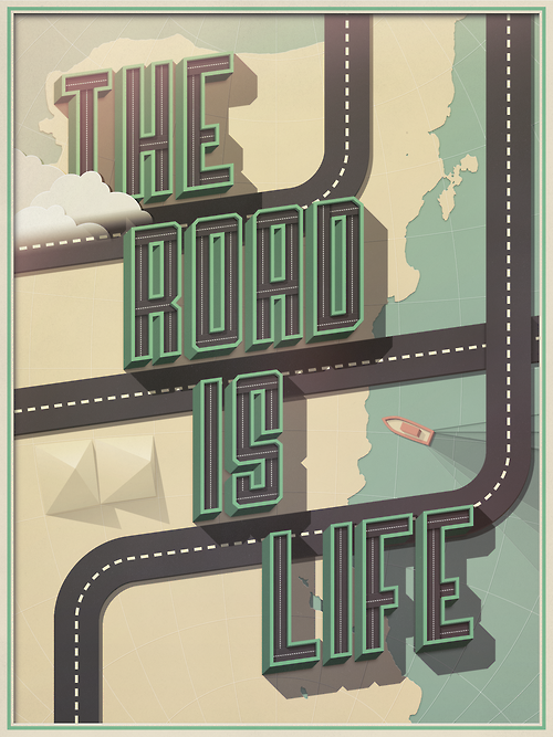 Beautiful Type — Illustration for the The Wander Postcard Project...