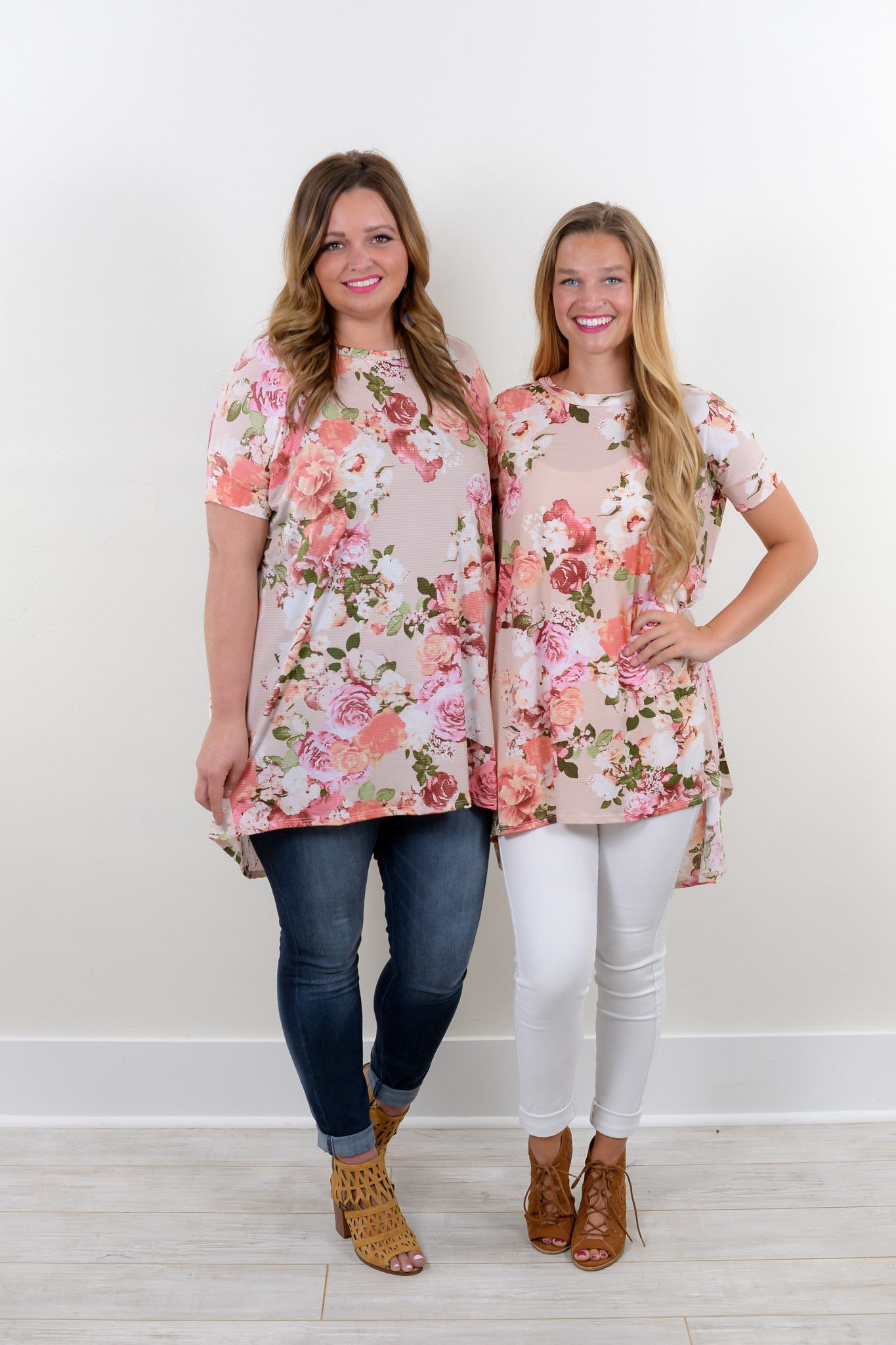 Simple Truths Blush Floral High/Low Tunic - C538BS