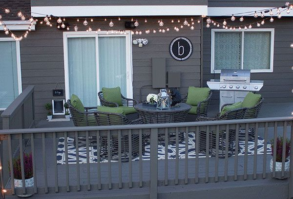 Deck Decorating Ideas: Fresh Paint And String Lights