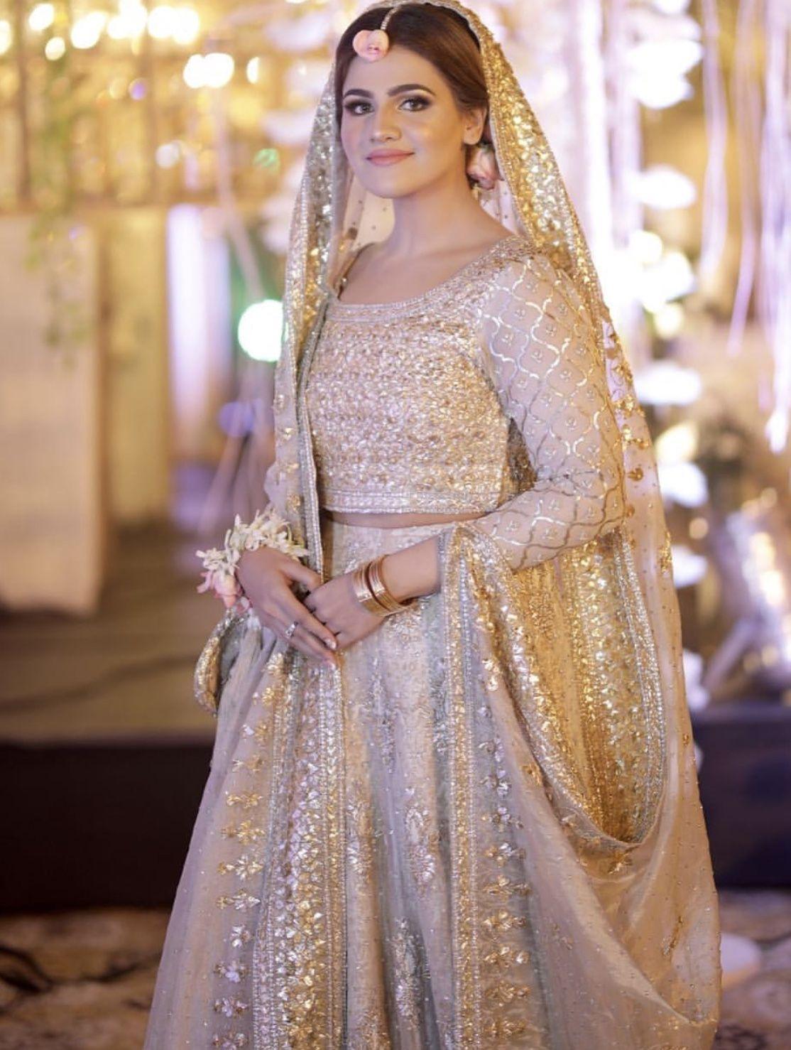 Bride At Her Milad Yes This Was Milad Not Dholki Or Nikkah Pakistani Bridal Dresses Pakistani Engagement Dresses Engagement Dresses