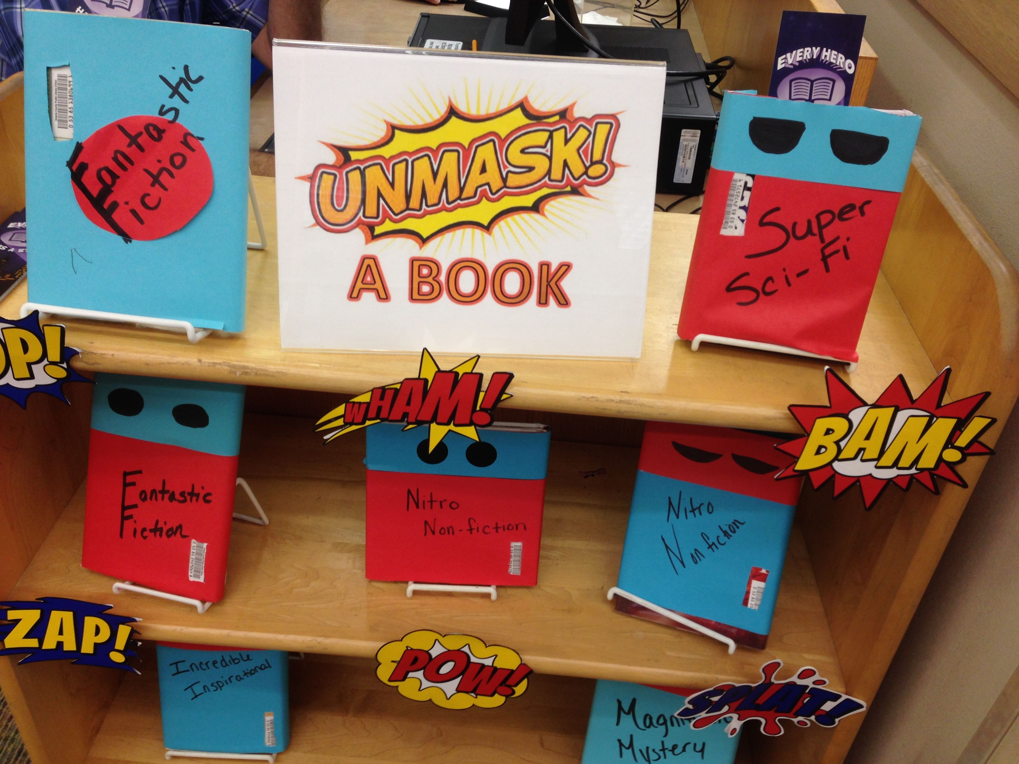 Use Superhero Theme For Blind Date With A Book