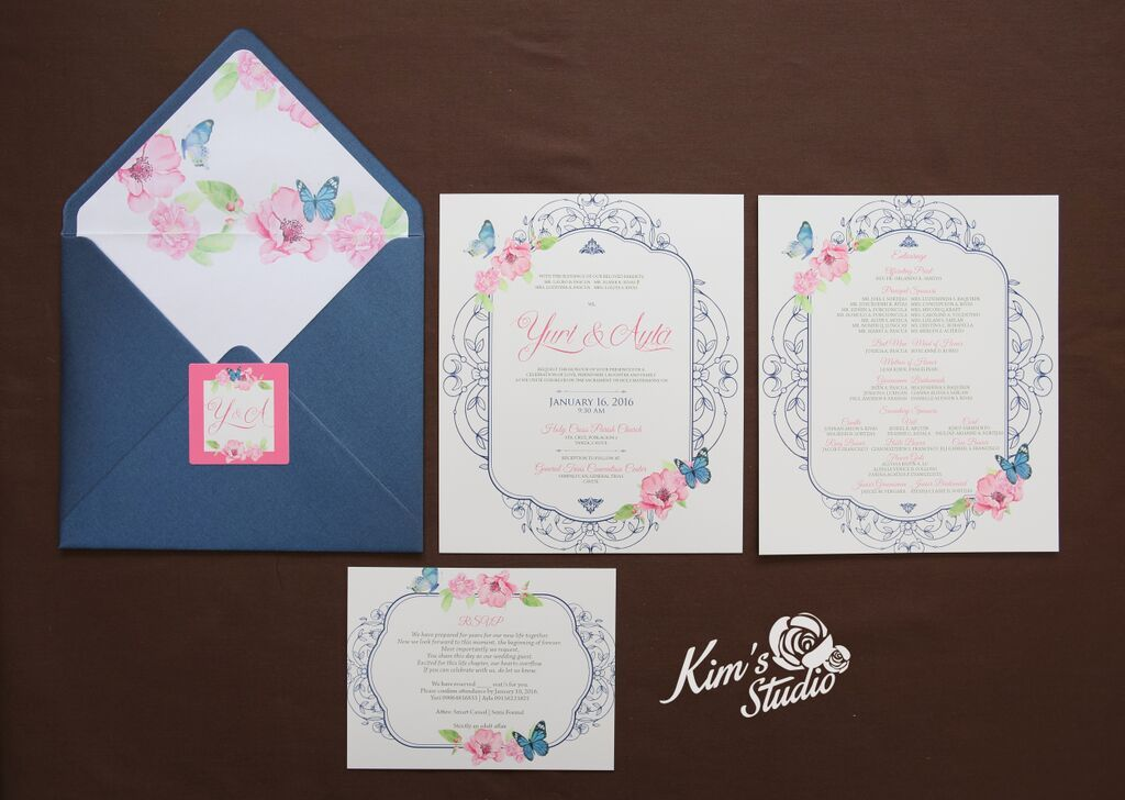 Wedding Invitation By KimS Studio For Inquiries You May Contact