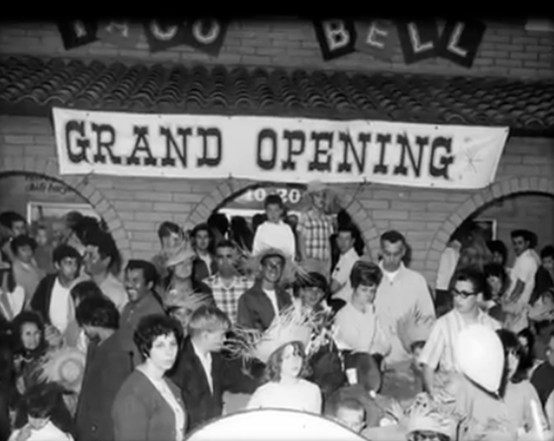7) Grand opening of first Taco Bell in Downey California