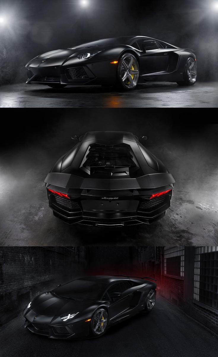 Endlessly Powerful Lamborghini Aventador Featuring Matte Black Body Wrap Lamborghini Aventador Lamborghini Photos Custom Headlights