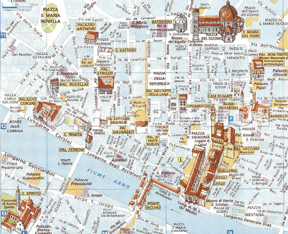 Musees De Florence Carte De La Toscane Visiter Florence Cartes