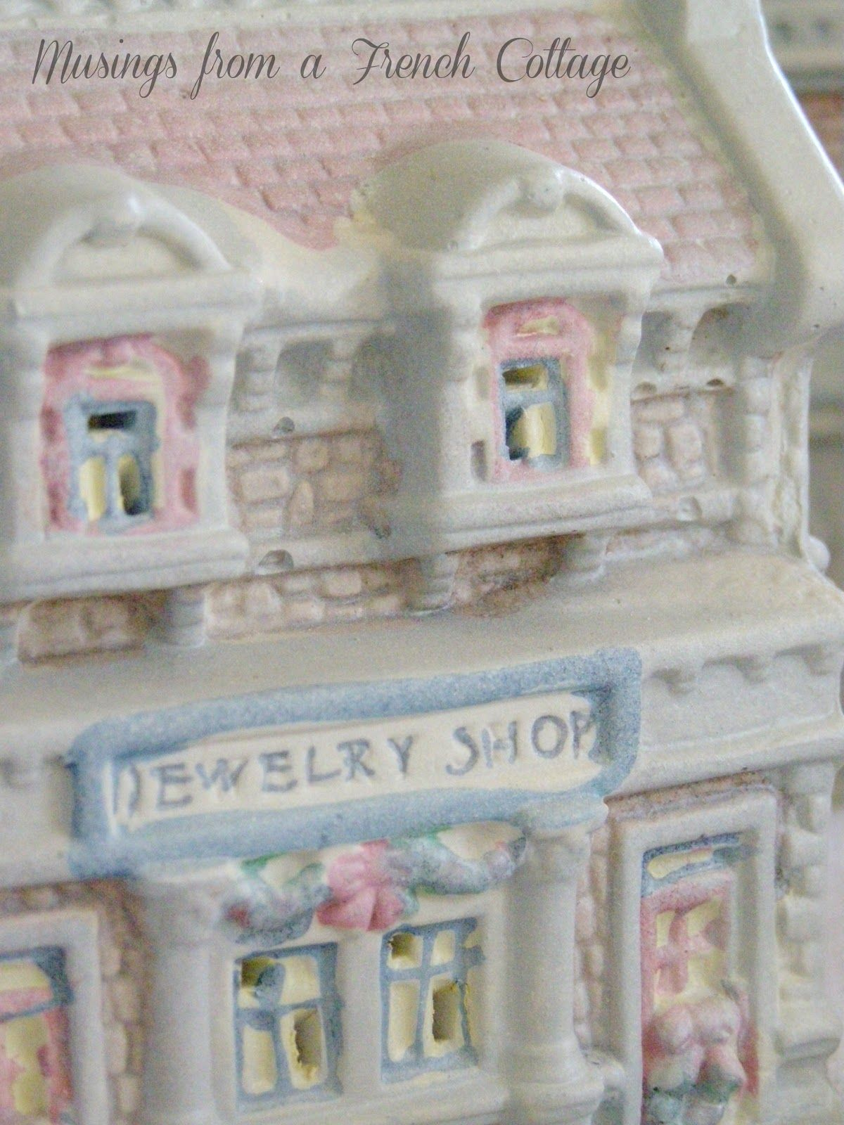 Ceramic christmas houses to paint - Dollar Tree Christmas Village Makeover