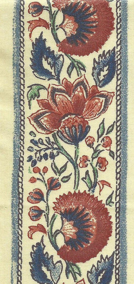 Dutch Chintz Border Fabric Coromandel Narrow Half 1 2