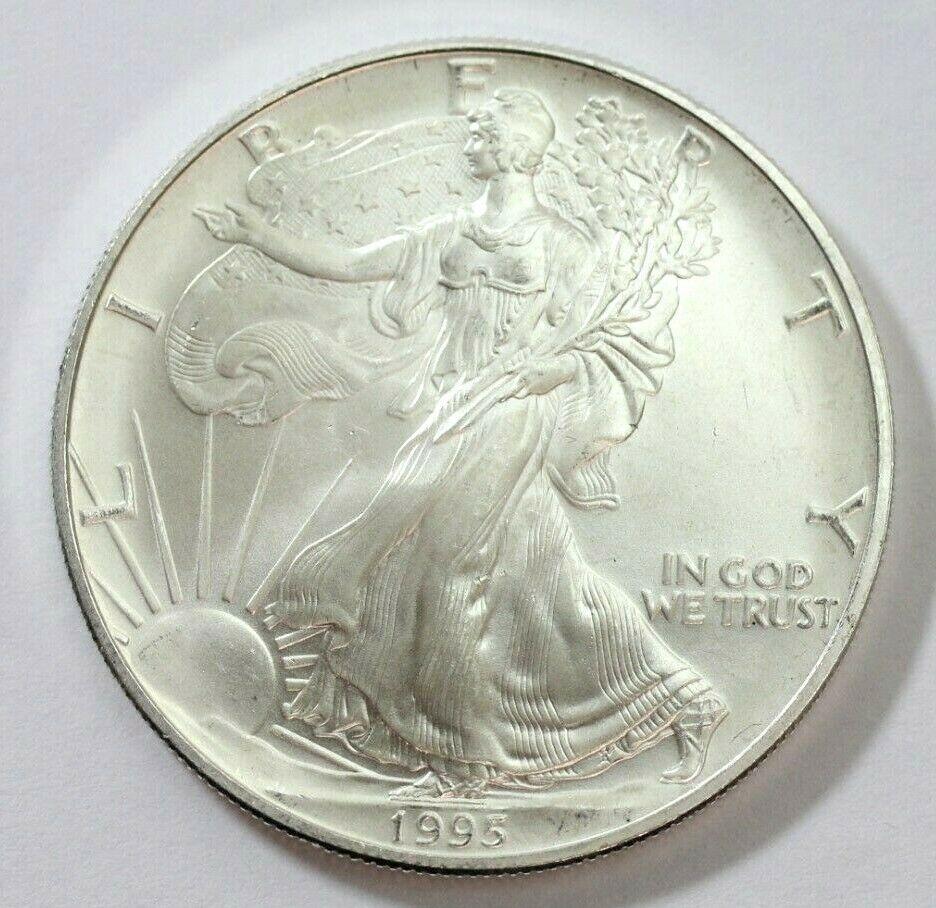 1995 American Silver Eagle 999 Fine 1 Oz Coin Excellent Usmint In 2020 American Silver Eagle Silver Eagles Coins