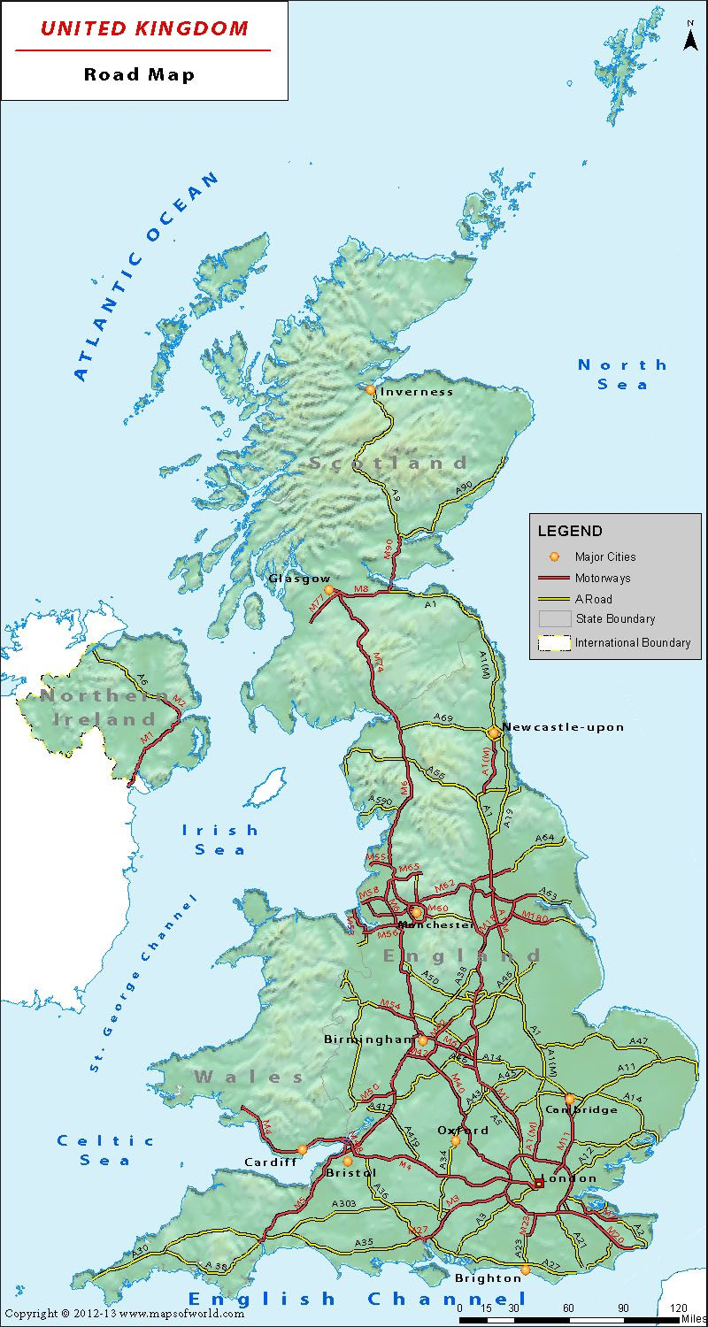 Map Of Uk Roads.Uk Road Network Map Is A Great Companion On Roads Of United