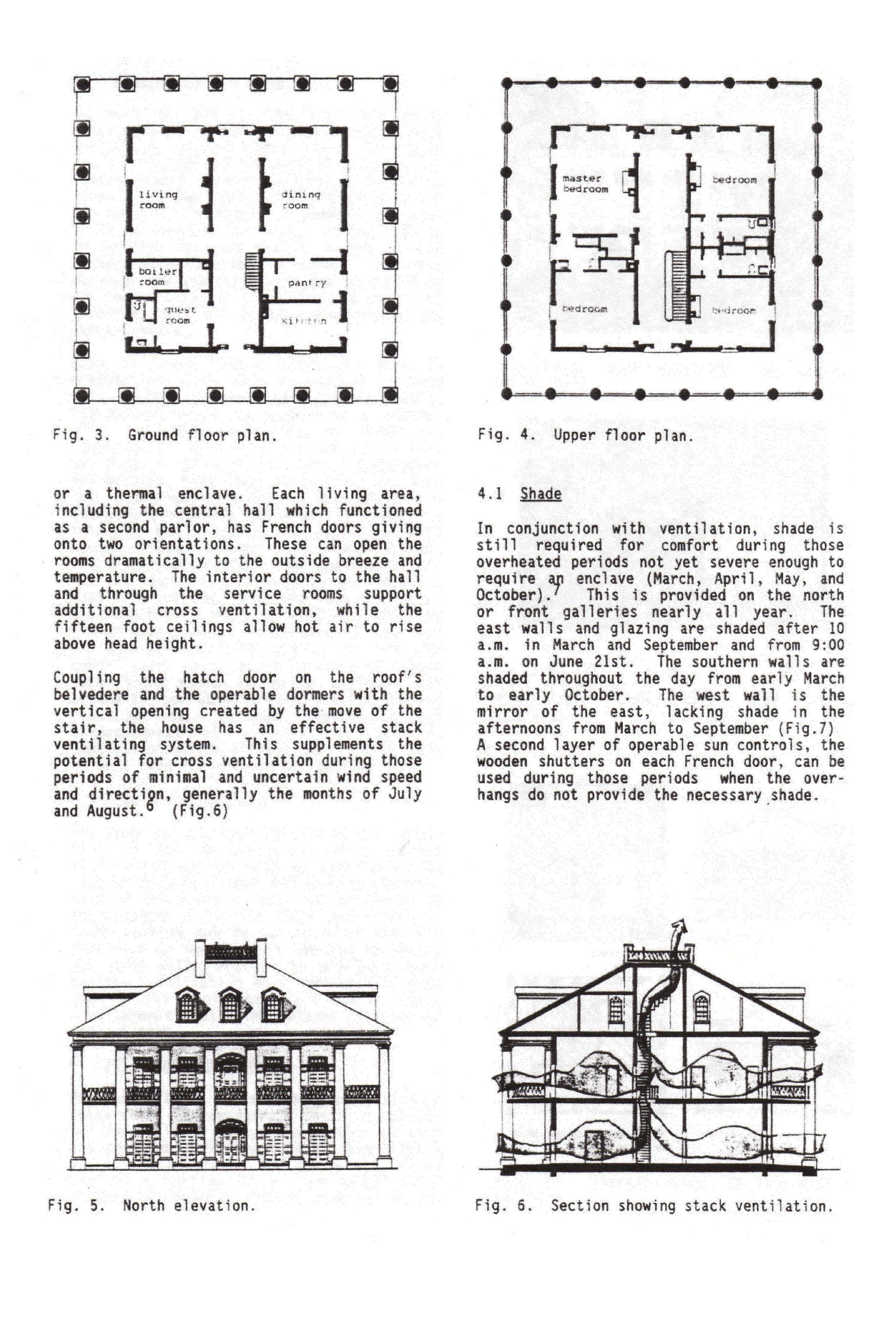 Oak Alley Plantation Louisiana Plans Elevation And Cross Section