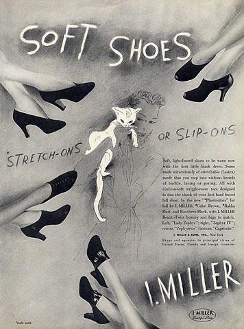 I. Miller Shoes vintage advertisement (1938)